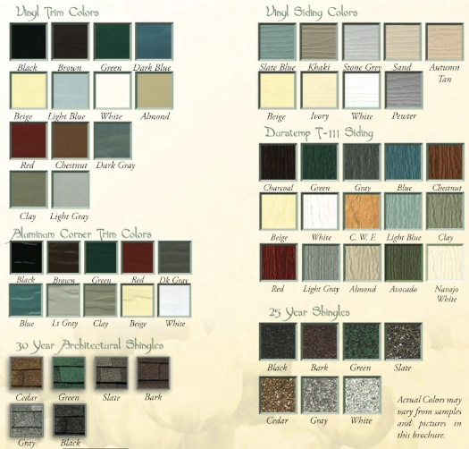 Shed Colors And Trim Colors | Joy Studio Design Gallery - Best Design